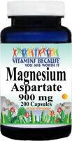 Magnesium Aspartate 900 mg by Vitamins Because 200 Capsules