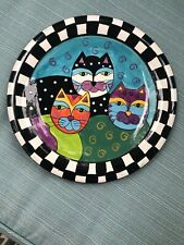Cat Plate Milson Louis Art Decor Hand Painted Pottery Rare Collectible Gift