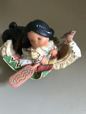 """Friends of the Feather """"Maiden Voyage"""" Figurine Enesco 1998 Girl in Canoe"""