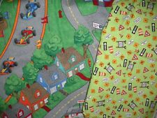 """New Pieces Of Town Map 44"""" x 37"""" & Diggers & Dozers 42""""X 72"""" Cotton Fabric"""