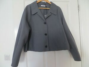 JIL SANDER AIRBUS GREY JACKET SIZE de  42 uk 14 NEW WITH TAG