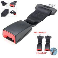 2x 25cm Universal Car Seat Seatbelt Safety Belt Extenders Extension 2.1cm Buckle