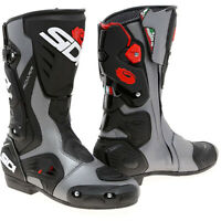 Sidi Roarr Street Track Motorcycle Boots Black Anthracite Size 10 US / 44 EU