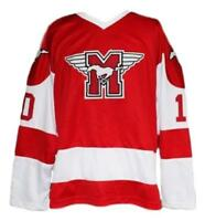 Any Name Number Size Youngblood Custom Hamilton Mustangs Hockey Jersey Red