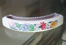 POOLE POTTERY FLOWER CRESCENT-FLORAL DESIGN-VGC   *