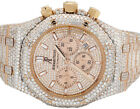 Herren Audemars Piguet 18K Rose Gold Royal Oak 41MM Voll Vs Diamant Uhr 31.75 CT