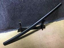 Japanese T10 Clay Tempered Matt Black Shirasaya Wakizashi Samurai Sword