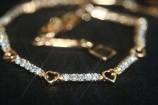 35 Tiny Brilliant Created Diamond Bracelet 15.5 - 18.5 cm / 6.10 - 7.28 inches