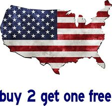 "American Flag Bumper Sticker -Patriot USA Shape - 5"" x 7"" - GoGoStickers"
