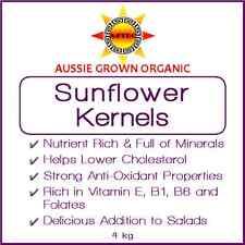 Sunflower Kernels Raw Organic 4kg - Australian Grown