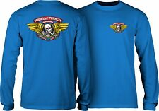 Powell Peralta Old School Winged Ripper Reissue Long Sleeve Shirt Royal Blue