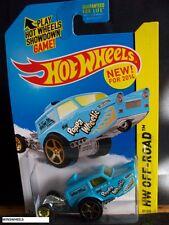 HOT WHEELS 2014 #87 -2 HW POPPA WHEELIE BLUE OFF ROAD CA AMER