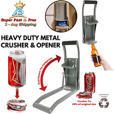 Bottle Opener And Can Crusher Tool Recycle Soda Beer Smasher Wall Mount Squeezer