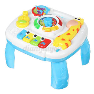 2 in 1 Baby Toddler Activity Table Center Toy Musical Learning Educational Gift
