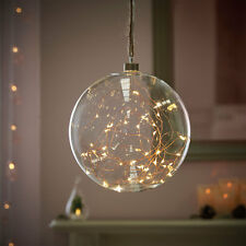 Spina 20CM in vetro per Matrimonio Indoor Palla pallina filo di rame Stringa Fata Luce a LED