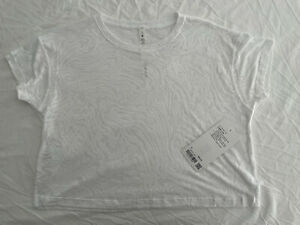 NWT - Lululemon Cates Tee Veil White - White -  Size 6