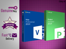 Project professional 2019 and Visio Pro 2019 for 1 PC Genuine