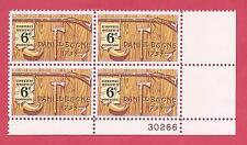U.S. SCOTT 1357, MNH 6 CENT PLATE BLOCK OF 4 - 1968 - DANIEL BOONE
