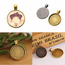 10x Necklace Pendant Cabochon Tray Cameo Base Bezel Blank Fit Jewelry Making