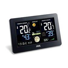 Funk Wetterstation Außentemperatur Vorhersage LED Bund ADE WS 1704 schwarz