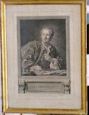 gravure fin 18ème Diderot par Henriquez & Vanloo Langres Haute Marne
