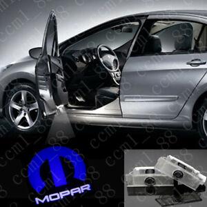 2X MOPAR LED DOOR PROJECTOR GHOST SHADOW PUDDLE LOGO LIGHTS For Dodge Challenger