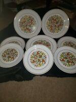 Corelle Indian Summer Dinner Plates Floral Pattern Set of 7 dinner/ 7 salad