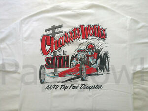 Top Fuel AA Front Engine Dragster Chassis Works Hot Rod Shop T-Shirt