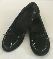 Dr Weil Orthaheel Womens 8 Discovery Loafer Shoes Black Suede Slip On Comfort