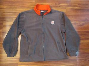 Gray & Red BURGER KING Fleece Full Zip Jacket - Medium