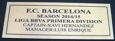 LIGA League BARCELONA FC 2014-2015  gold Sublimated Plaque
