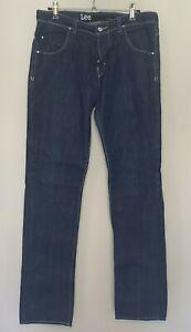 Lee Mens Size 32 Jeans Button Fly Pants Denim Cotton Slim LO L2 Trousers Blue