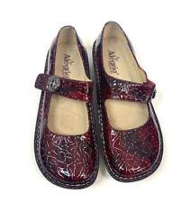 Alegria Paloma Wine Etched Mary Jane  Mule Shoe Clog Size 42  Leather
