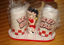 Classic Betty Boop, Pudgy Diner Salt & Pepper Shakers w/Holder (Pacific, 37702)