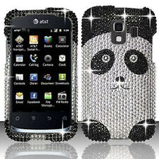 For Huawei AT&T Fusion 2 Crystal Diamond BLING Hard Case Phone Cover Panda