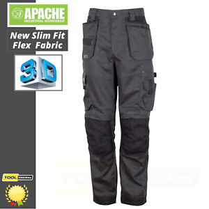 Apache ATS Work Trousers - Modern Fit 3D Flex Stretch Straight Leg Work Trousers