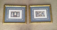 SET OF 2*Le Magasin De Meubles Framed Print Fenêtres De Salon Louis XVI fond XIV