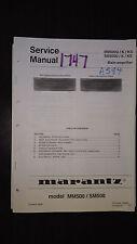 Marantz mm500u sm500 u/ks Service Manual stereo main amplifier amp original book