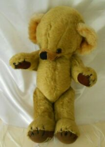 Antique Vintage Cheeky Merrythought Teddy Bear Stitched Nose