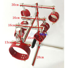 Steel Spreader Bar Frame Ankle Cuffs Collar Handcuffs Pillory restraints Binding