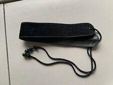 """YVES SAINT LAURENT Rive Gouche Leather Corset Belt Black 66"""" Long 2.5"""" Wide 80's"""