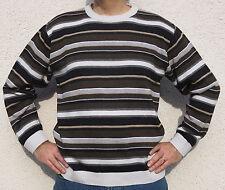 Original 90er Jahre - Vintage Pullover - Retro Pulli braun 52/54 L - ungetragen