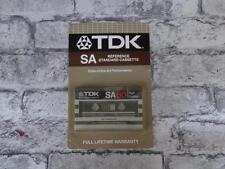 TDK SA 60 High Position / BLANK Cassette Album Tape / Carded / SEALED