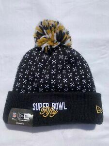 NWT New Era Superbowl 50 Carolina Panthers Womens NFL Knit Hat Beanie Pom Fleece