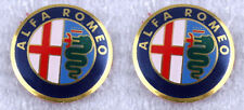 2 x Alfa Romeo Key Fob Logo Emblem Badge Remote Sticker 11mm