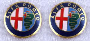 2 x Alfa Romeo Key Fob Logo Emblem Badge Remote Sticker 11mm
