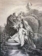 La sainte famille Watteau (1684-1721) tirage J Cjaye Circa 1850 Ruche Parisienne