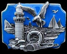 Boucle de Ceinture Lobster Fishing Fisherman Seagull Old Lighthouse Belt Buckle