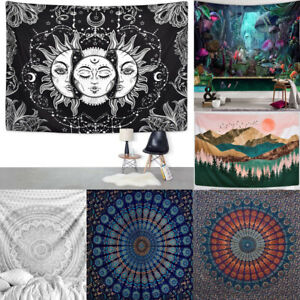 150x200cm Indisch Mandala Tapisserie Wandteppich Wandbehang Bettdecke Strandtuch
