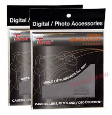 ProTama Lens Cleaning Cloth MICROFIBER 18x18cm for filter b+w hoya kenko x 2 pcs